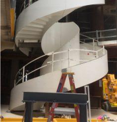 Spiral stairs under construction