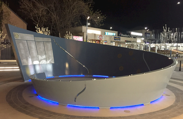 Architectural design placed outside the mall